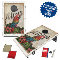 Aloha Wood Texture Bean Bag Toss Game by BAGGO