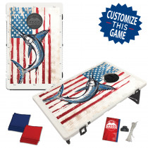 American Flag Swordfish Bean Bag Toss Game by BAGGO