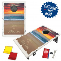 Beach Sunset Names in the Sand Bean Bag Toss Game by BAGGO