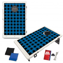 Blue Plaid Flannel Bean Bag Toss Game by BAGGO