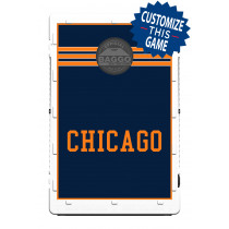 Chicago Block Navy & Orange Screens (only) by Baggo