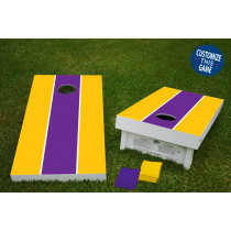 Standard Stripe Regulation Wooden Cornhole Bean Bag Toss Tailgate Game 24x48 with 8 Official 16oz Bags