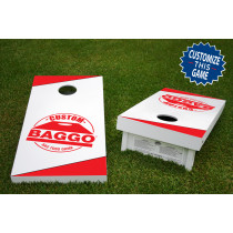 Custom Official Wooden Bean Bag Toss Tailgate Game 24x48 with 8 Official 16oz Bags
