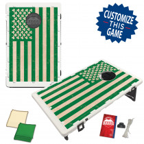 Green Irish Shamrock American Flag Bean Bag Toss Game by BAGGO