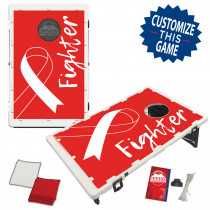Heart Disease Awareness Ribbon Bean Bag Toss Game by BAGGO