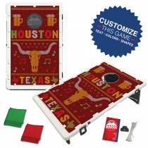 Houston Texas Ugly Sweater Bean Bag Toss Game by BAGGO