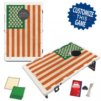 Irish Shamrock American Flag Bean Bag Toss Game by BAGGO