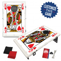 King and Queen of Hearts Bean Bag Toss Game by BAGGO