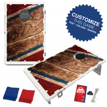 Marbled Red White and Blue Bean Bag Toss Game by BAGGO