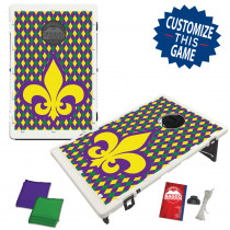Mardi Gras Fleur De Lis Wallpaper Bean Bag Toss Game by BAGGO
