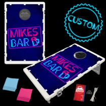 Classic Neon Bar Sign Bean Bag Toss Game by BAGGO