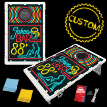 Pinup Neon Bar Sign Bean Bag Toss Game by BAGGO