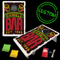 Pub Neon Bar Sign Bean Bag Toss Game by BAGGO
