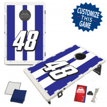 Race Car Race Stripe With Custom Colors & Number Bag Toss Game by BAGGO