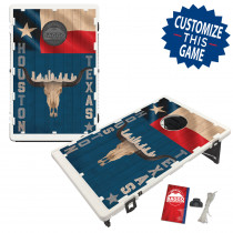 Houston Texas Skull & Flag Skyline Bean Bag Toss Game by BAGGO