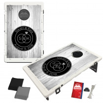 Wedding Rings and Wood Background Baggo Bag Toss Game by BAGGO