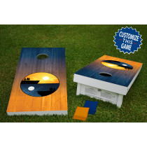 Cliff Yin-Yang Regulation Wooden Cornhole Bean Bag Toss Tailgate Game 24x48 with 8 Official 16oz Bags