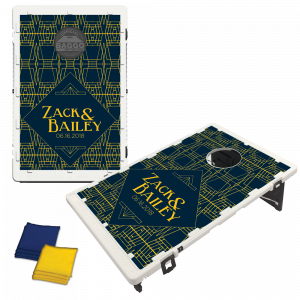 Art Deco Wedding Baggo Bag Toss Game by BAGGO