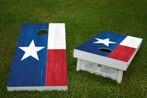 Houston Texas Alt Regulation Wooden Cornhole Bean Bag Toss Tailgate Game 24x48 with 8 Official 16oz Bags