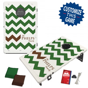 Chevron Pattern Custom Colors Bag Toss Game by BAGGO