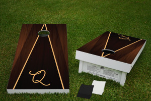 Retro Wood Regulation Wooden Cornhole Bean Bag Toss Tailgate Game 24x48 with 8 Official 16oz Bags