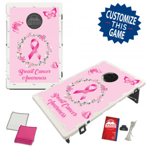 Breast Cancer Awareness Bean Bag Toss Game by BAGGO