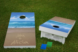 Names in the sand Cornhole